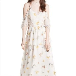 Free People White Lace Floral Magnolia Maxi Dress